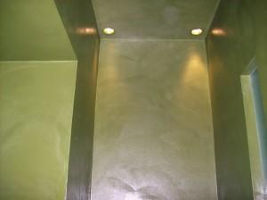 resina a parete e soffitto